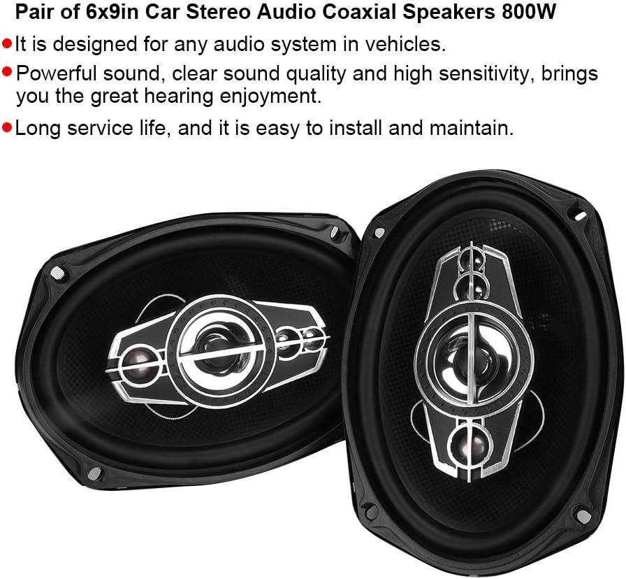 Magnet argent haut-parleur 800W noir Plastic voiture Gorgeri TS-6985 Paire de haut-parleurs coaxiaux audio st/ér/éo pour auto