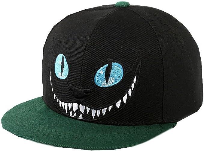 autlet Plain negro gato ojos azules dientes gorra de béisbol hip-hop ...