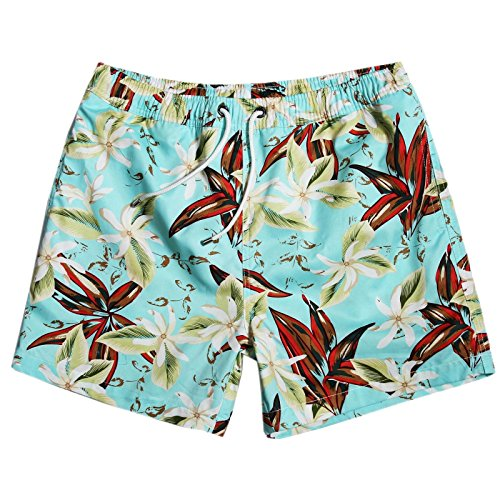 MaaMgic Mens Quick Dry Funny Floral Short Swim Trunks With Mesh - For International Swimsuits All Shipping