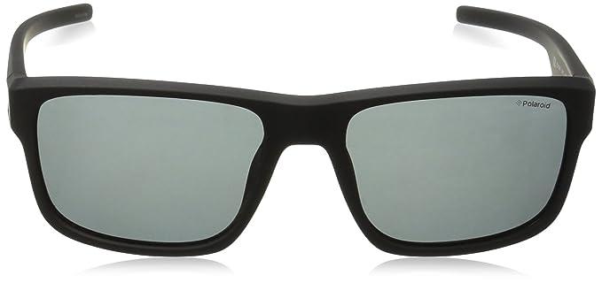 Polaroid Herren Sonnenbrille Pld 3018/S Y2 DL5, Schwarz (Matt Black/Grey Pz), 55
