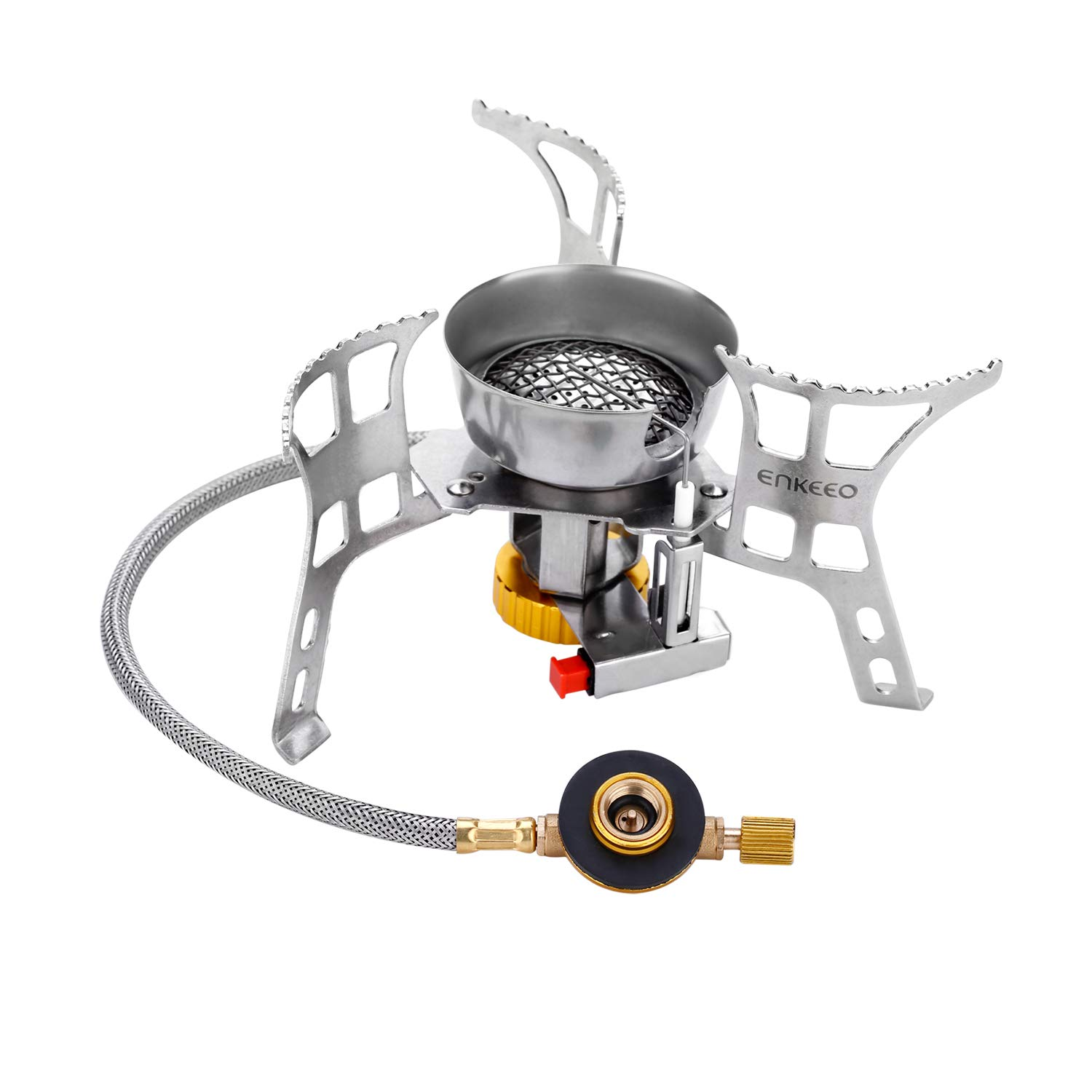 Amazon.com   ENKEEO 3000W Portable Camping Stove Foldable Backpack Gas  Cooker with Windscreen a96c46383050
