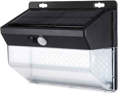 Amazon Com Solar Lights Outdoor 206 Led Outdoor Waterproof Solar Power Wall Light Motion Sensor Safety Garden Light For Yard Garage Deck Pathway Porch Black 1 Pack Toys Games