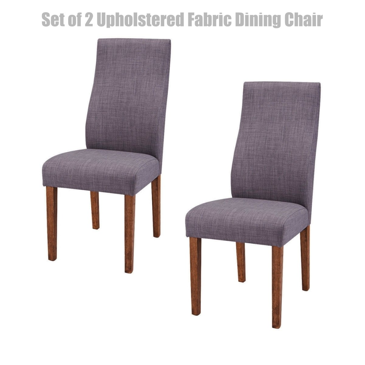 Modern design fabric upholstered dining chairs sturdy durable wood frame breathable linen cover seat comfortable high density padded cushion home office
