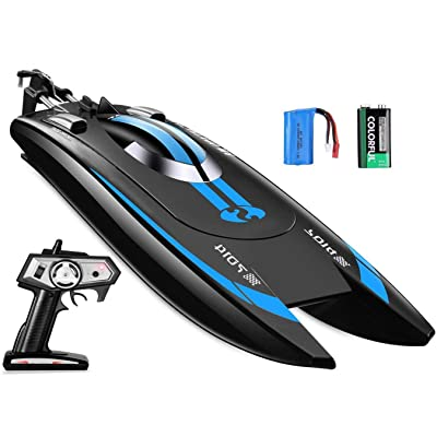 Remote Control Speed Boat, High Speed RC Racing Boat, Speed of 12 Mph: Toys & Games