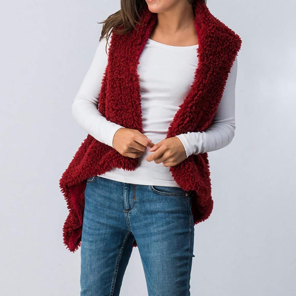 LISTHA Outwear Vest Women Hoodie Waistcoat Sherpa Jacket Faux Fur Coat Casual