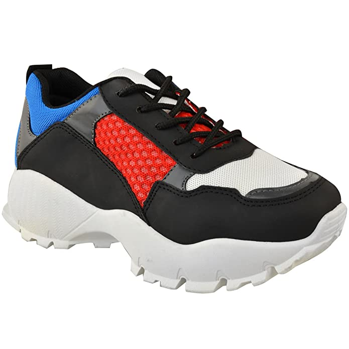 aba7dfb762 Amazon.com | Fashion Thirsty Womens Chunky Dad Sneakers Runners Designer  Inspired Shoes Size 5 | Fashion Sneakers