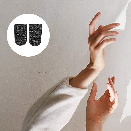 BESPORTBLE Touchscreen Fingerling Mobile Game Finger Sleeve Atmungsaktiv Anti Sweat Bildschirm Handy Game Finger Abdeckung Fingerh/ülle f/ür Handyspiel Zubeh/ör Schwarz 10 St/ück