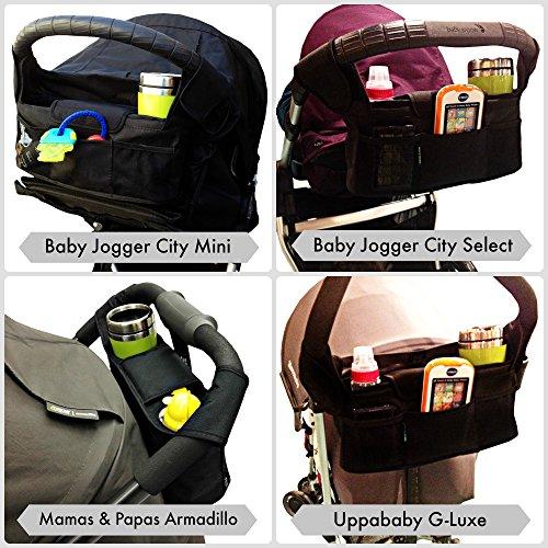 Amazon.com : Stroller Organizer Bag & Cup Holder, Universal Fit : Baby