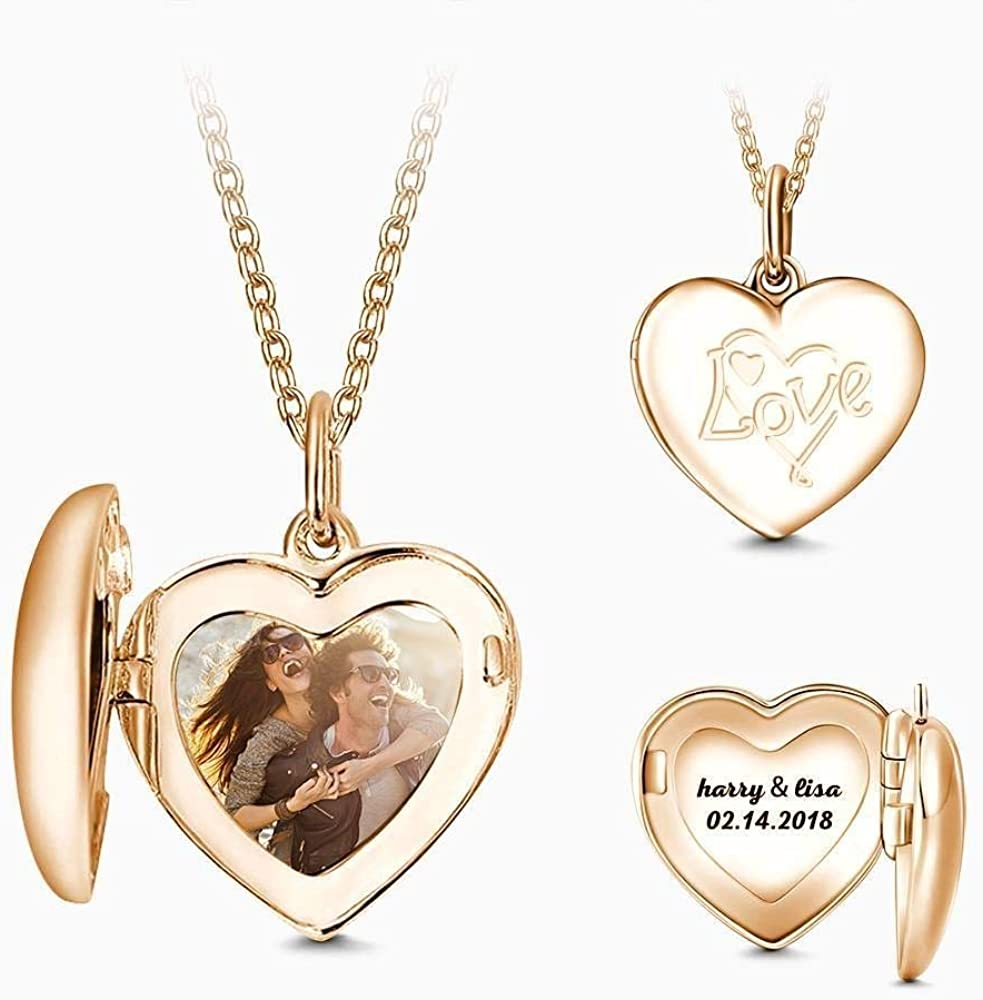 GoCustomNow Personalized Name Necklace Rose Gold Plated Silver