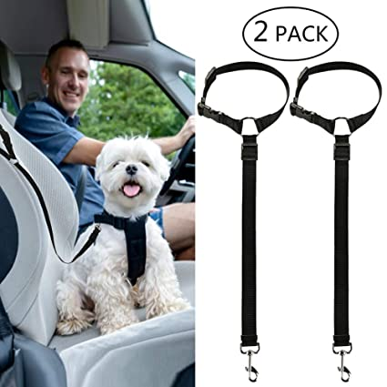 Yumi V 2 Pcs de Cinturón de Seguridad para Perros, Arnés de ...