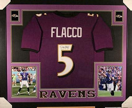 57fd18c1755 Joe Flacco Signed Jersey - Framed XL Purple 18086 - JSA Certified -  Autographed NFL Jerseys