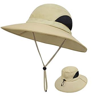 Amazon.com: LETHMIK sombrero de ala ancha de tela ...