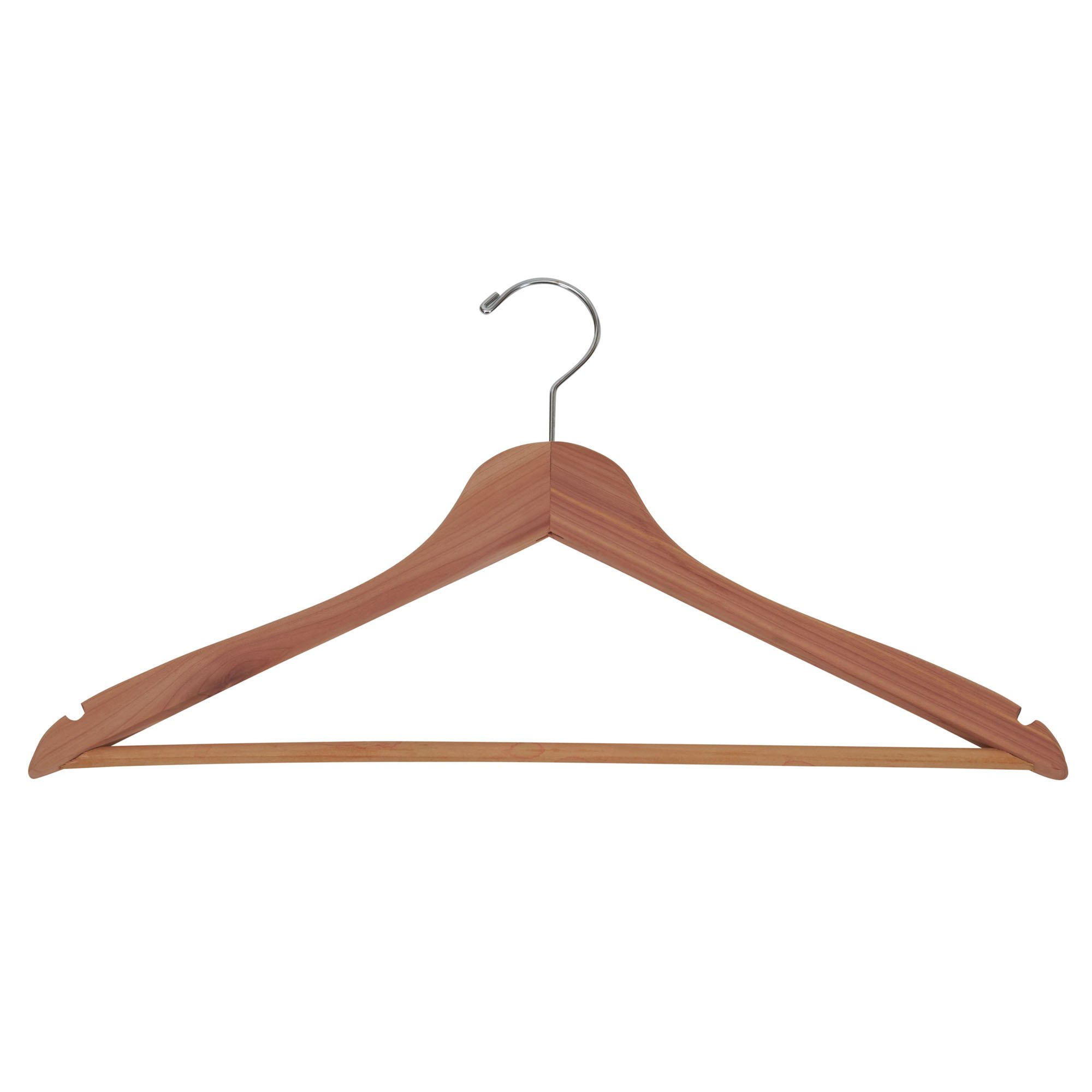 Household Essentials 26140 CedarFresh Red Cedar Wood Clothes Hangers with Fixed Bar and Swivel Hook - Set of 4 by Household Essentials (Image #4)