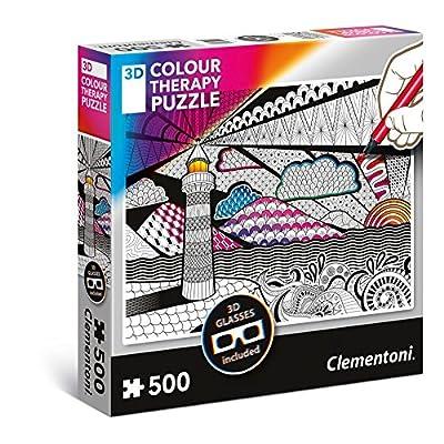 Clementoni 35052 Clementoni-35052-3D Therapy Puzzle-Lighthouse-500 Pieces, Multi-Colour: Toys & Games
