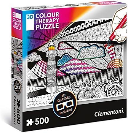 Clementoni Pi/èces 35052-3D Colour Therapy Puzzle Latarnia 500