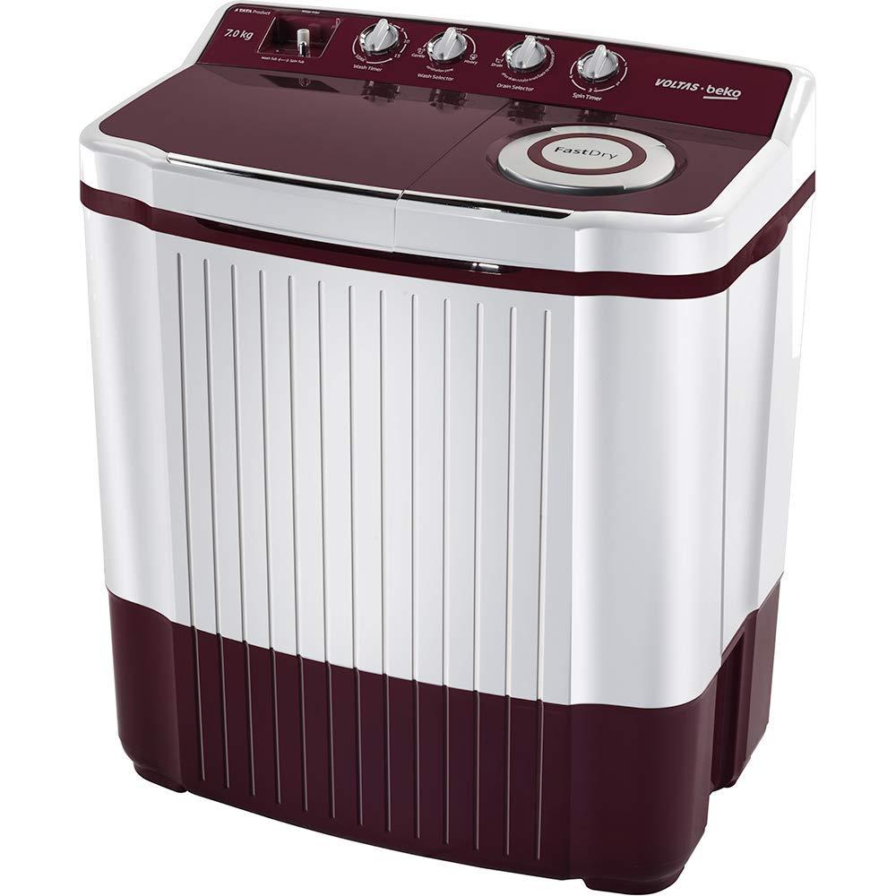 Voltas Beko 7 Kg 5 Star Semi-Automatic Top Loading Washing Machine – WTT70ALIM