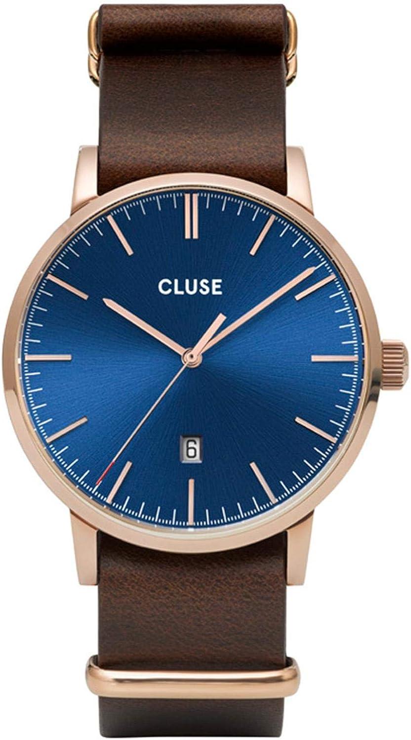 Cluse Aravis Reloj de Hombre Cuarzo 40mm Correa de Cuero CW0101501009