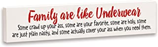 product image for Imagine Design Relatively Funny Family are Like Underwear, Stick Plaque, One Size, Red/Black/White
