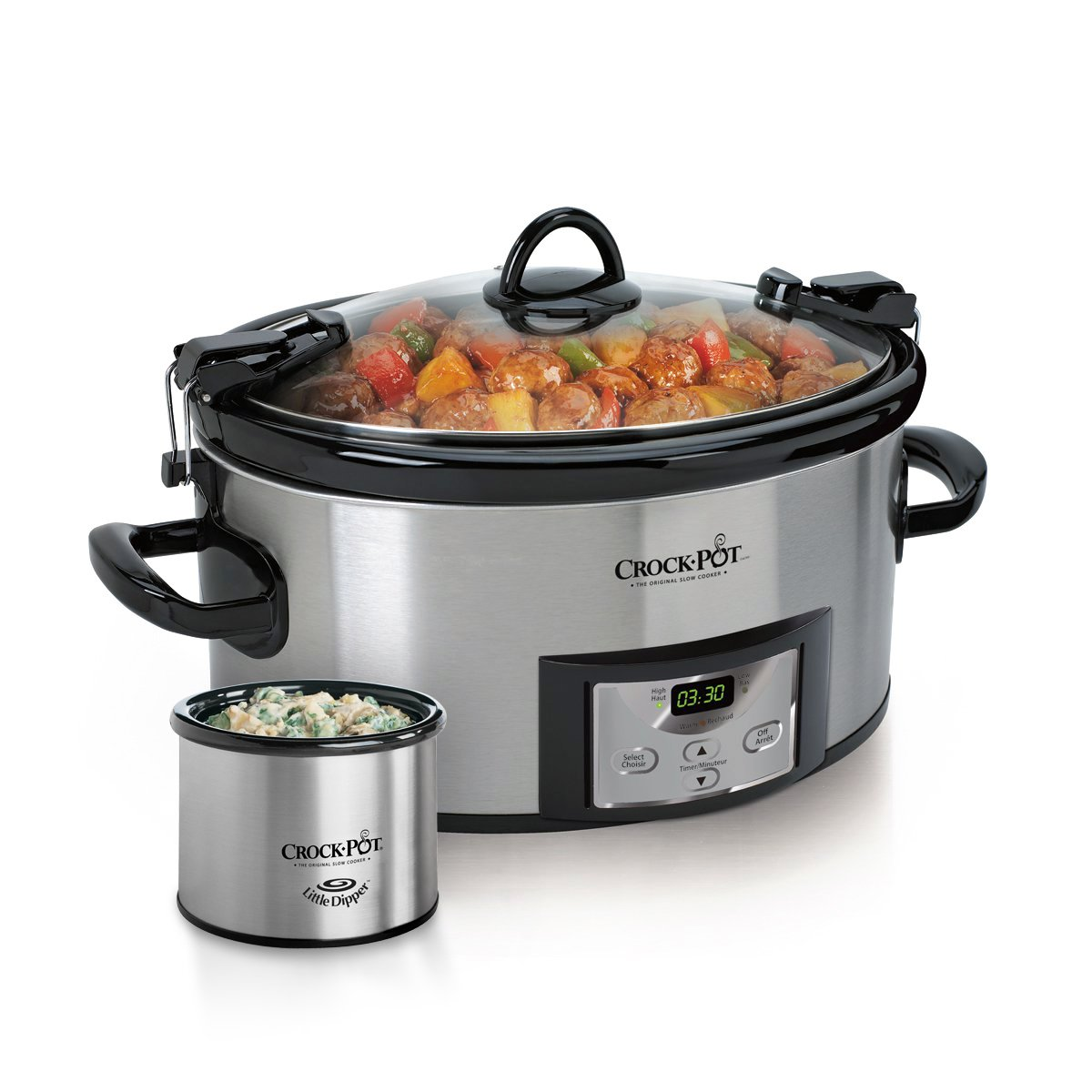 Crock-pot SCCPVL619-S-A 6-Quart Metallic Cooker with Hinged Lid, Black