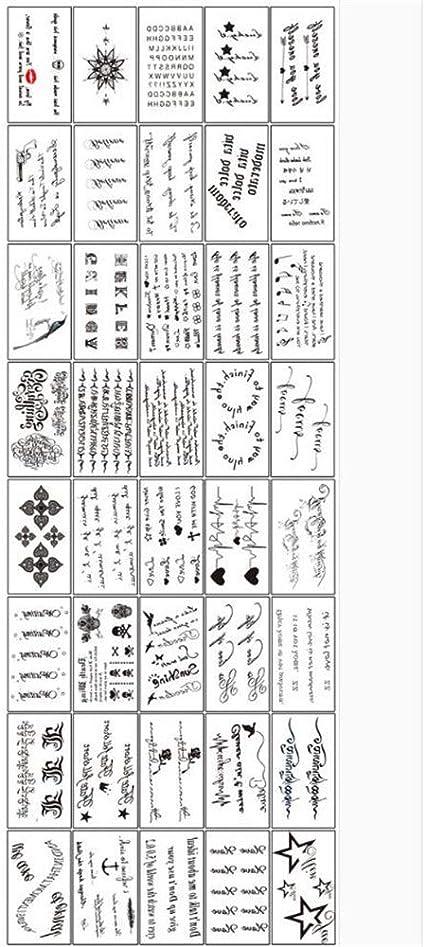 Gtnlg Tatouage Autocollants Une Copie De 40 Petits Autocollants Tatouages Impermeables Hommes Et Femmes Dominatrice Durable Simulation Cheville Tatouage Stickers Body Painting 2 Amazon Fr Sports Et Loisirs