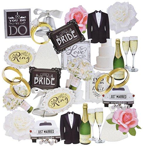 PAPER HOUSE SelfAdhesive Wedding Die-Cuts (36 Pack) ()