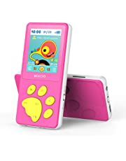 $29 » Wiwoo MP3 Player for Kids, Portable Music Player with FM Radio Video Puzzle Games Sleep Timer Voice Recorder E-Book,Bear's Paw Button MP3 Player for Children as a Festival Gift, Pink