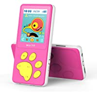 Wiwoo MP3 Player for Kids, Portable Music Player with FM Radio Video Puzzle Games Sleep Timer Voice Recorder E-Book,Bear…