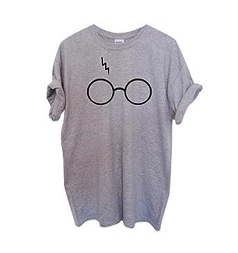 e949684922b6f0 Rundhals T Shirt Damen Schöne Lockere Brille Print T Shirts Kurzarm Frauen  Sommer Oversize Oberteile Tops Sport T-shirt Ausgefallene Schöne Coole T  Shirts ...