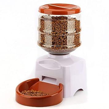 KKCF Alimentador Automático De Mascotas, Dispensador De Alimentos Dispensador De Agua Set Bowl para Perros Gatos Mascotas Alimentador De Alimentos,Red: ...
