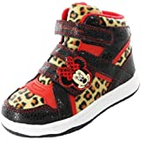 Minnie Mouse Langley Leopard Print Hi Top Girls Trainers (6,7,8,9,10,11,12)