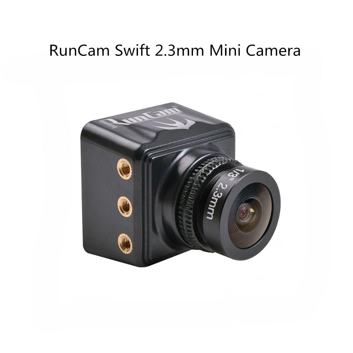 Crazepony RunCam Swift 600TVL Mini Camera 2.3mm Lens 150 Degree DC 5-36V DWDR Racing Quadcopter Black