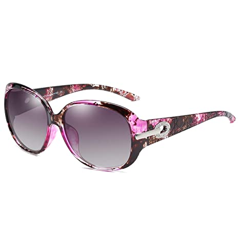 DUCO Klassische Damen Sonnenbrille Polarisiert Modische 100% UV-Schutz 6214