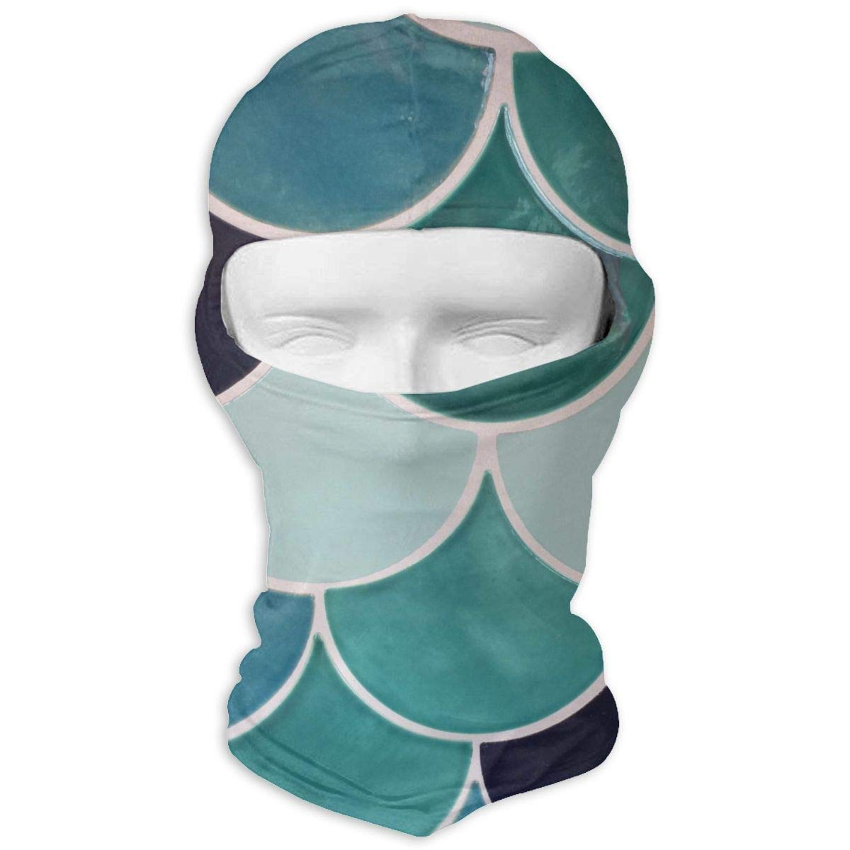 Gxdchfj Amazing Fish Scales Winter Tactical Full Face Mask Dust Protection Neck Cover Hood for Men and Women