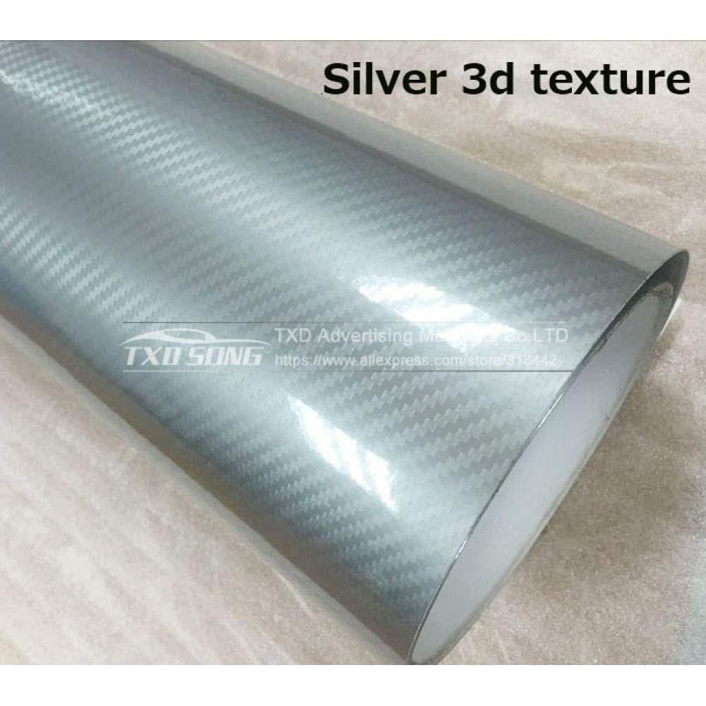 Amazon.com: Premium Quality Silver 5D Carbon Fiber Film with ...