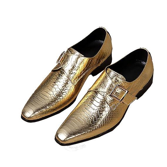 Shoes Herren Schuhe aus echtem Leder wies Formale Schnalle