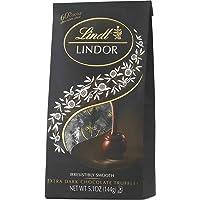 Lindt LINDOR 60% Extra Dark Chocolate Truffles, Dark Chocolate Candy with Smooth, Melting Truffle Center, 5.1 oz. Bag (6…