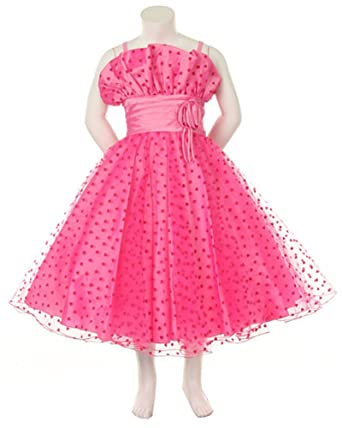size 2 girl valentines day dress hot pink tulle and hearts - Valentine Dresses For Girls