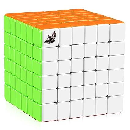 D-FantiX Cyclone Boys 6x6 Speed Cube Stickerless 6x6x6 Magic Cube Puzzles  68mm (G6 Version)