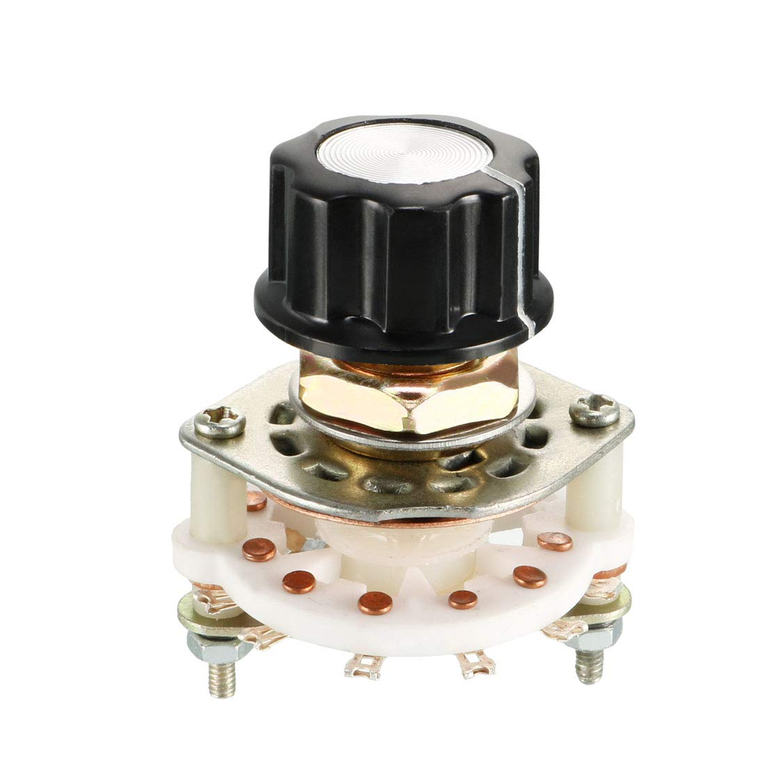uxcell 1P7T 1 Pole 7 Position Selectable 1Deck Band Selector Rotary Switch with Plastic Knob