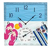 Springfield 92670 at The Pool Outdoor Clock and Thermometer, Polyresin