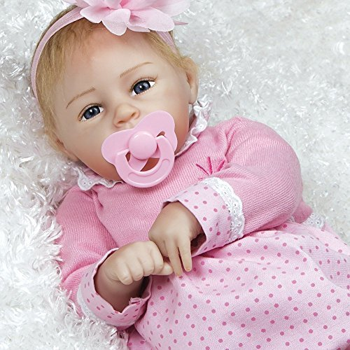 Paradise Galleries Reborn Baby Doll in Lifelike Flextouch Silicone Vinyl Little Lara, 20 inch Weighted Girl Doll, 5-Piece Set ()