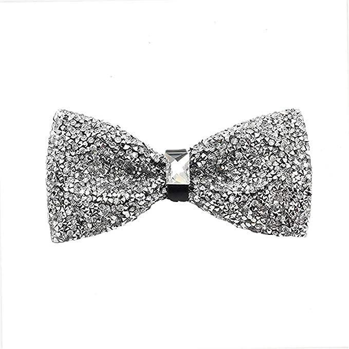 YYIILL Corbata de moño Corbata de lazo de cristal para hombres ...