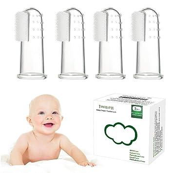Zahnfleischmassage  Zahnbürste Kinder Silikon Fingerzahnbürste Baby Zahnpflege
