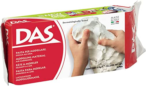 DAS Air-Hardening Modeling Clay, 2.2 Lb. Block, White Color (387500)