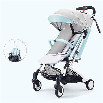 WDXIN Cochecito de Bebe Plegable Absorción múltiple de Golpes Plegado Ligero, cómodo Fácil de Llevar por 0-36 Meses bebé,A: Amazon.es: Deportes y aire libre