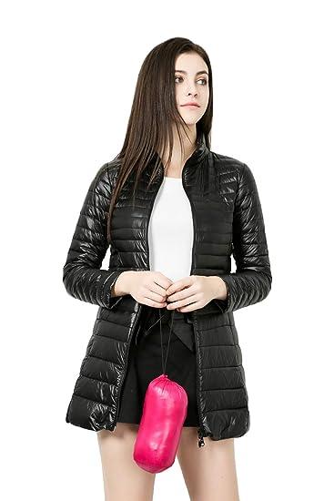 035f2c1080f84 Lightweight Down Jacket Women s Winter Long Section Collar Slim Slim 7XL XL  White Duck Down Jacket