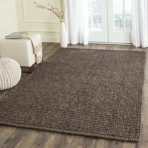 Safavieh Natural Fiber Collection NF447D Hand Woven Brown Jute Area Rug (4' x 6')