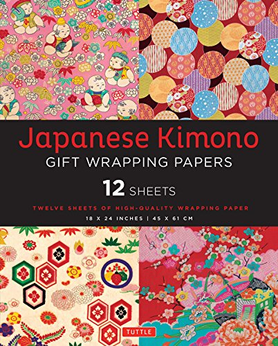 Pdf Crafts Japanese Kimono Gift Wrapping Papers: 12 Sheets of High-Quality 18 x 24 inch Wrapping Paper