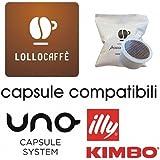 100 CAPSULE CAFFE LOLLO MISCELA NERA COMPATIBILI UNO SYSTEM KIMBO ILLY PASSIONE PIU