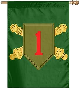 "1st ID Division Artillery Family Party Banner Flags Springtime 27""x37"" Decorative Garden Flag"